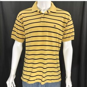 Tommy Hilfiger Striped Flag Logo SS Polo Shirt